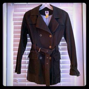 GAP XS Trench Coat Black
